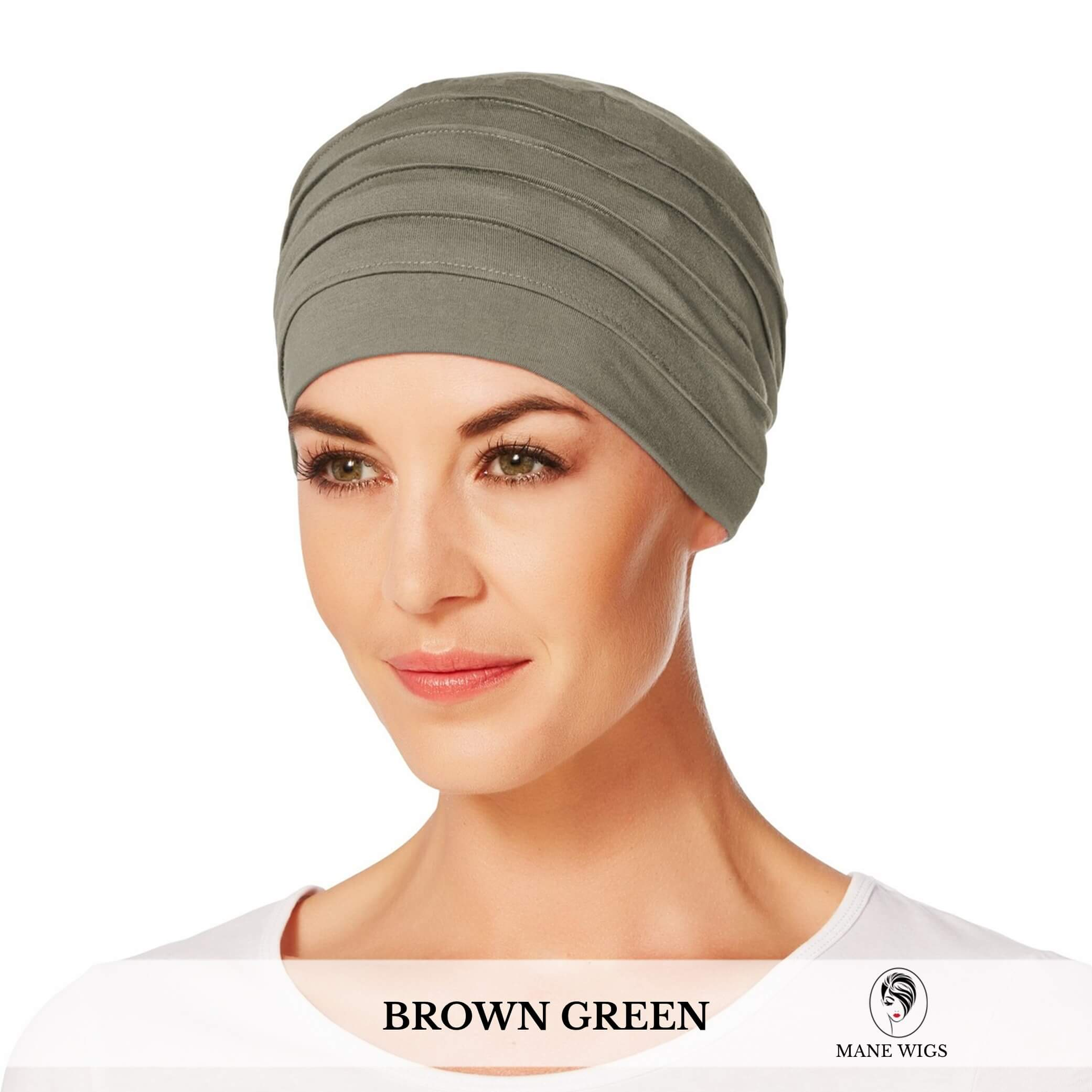 Christine Headwear Yoga Turban 338-Brown Green