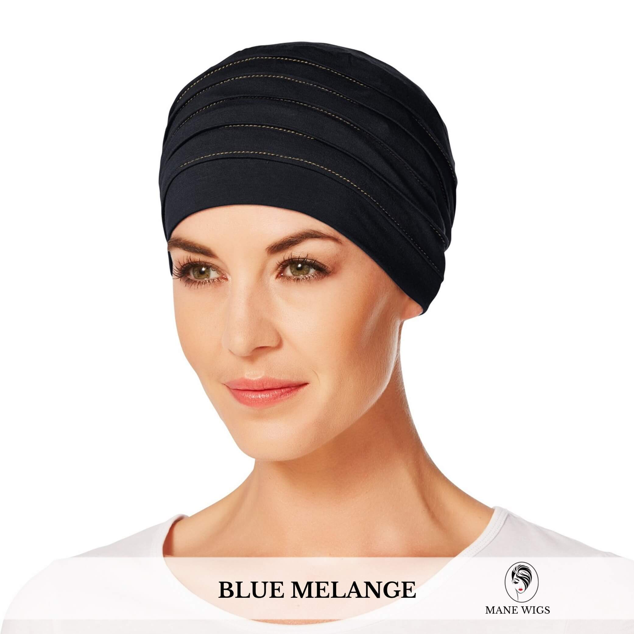 Christine Headwear Yoga Turban 391-Blue Melange