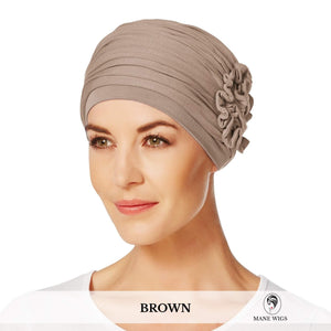 Christine Headwear Lotus Turban 167-Brown