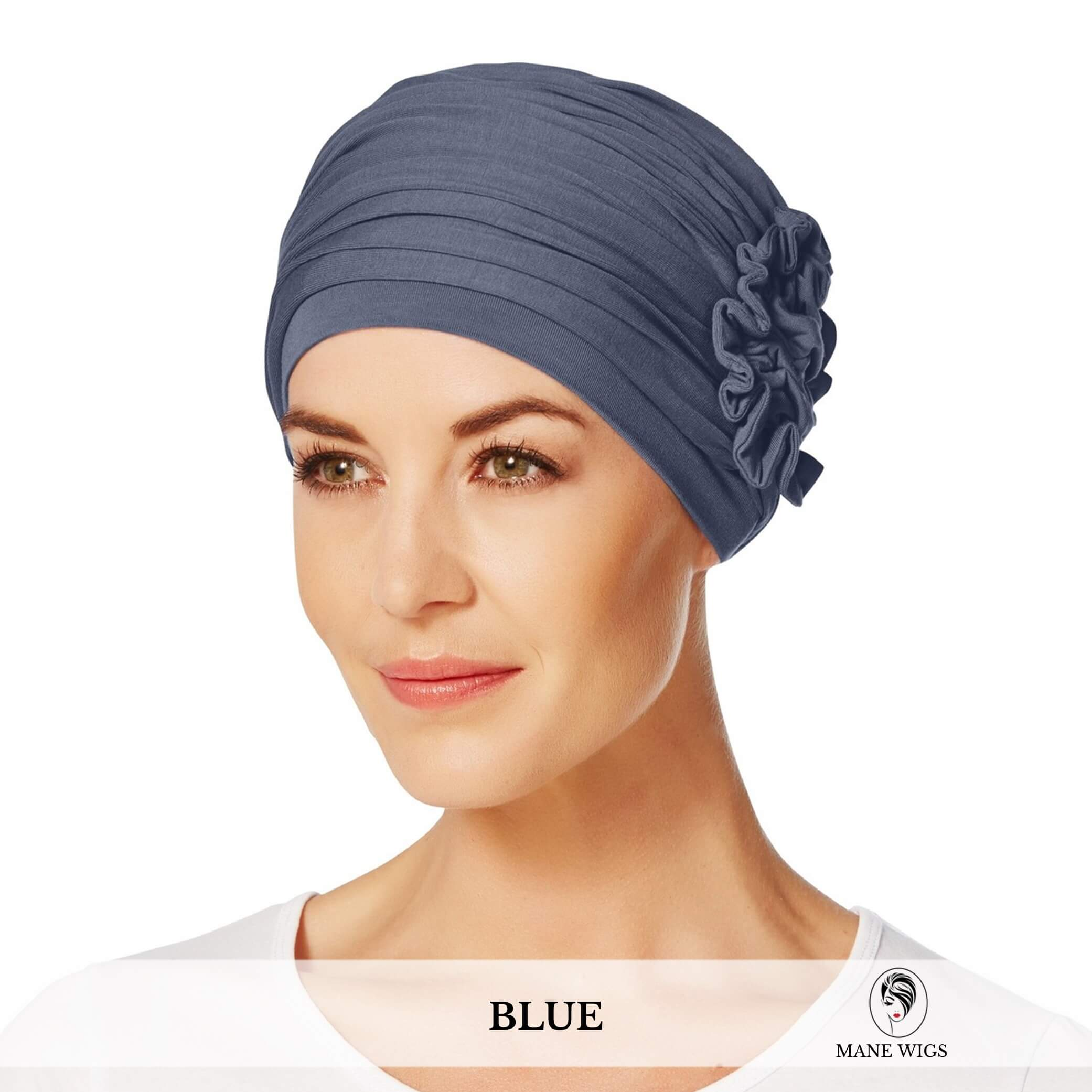 Christine Headwear Lotus Turban 168-Blue