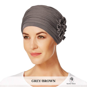 Christine Headwear Lotus Turban 253-Grey/Brown