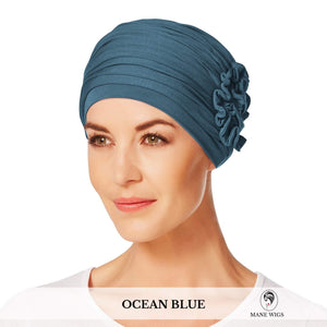 Christine Headwear Lotus Turban 295-Ocean Blue