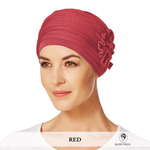 Christine Headwear Lotus Turban 361-Red