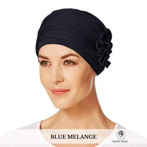 Christine Headwear Lotus Turban 391-Blue Melange