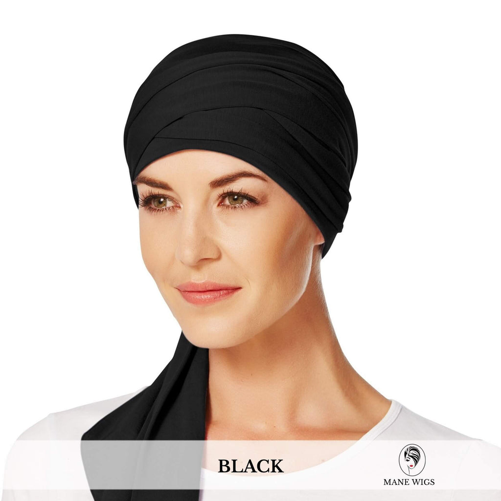 Christine Headwear Mantra Long Scarf 211-Black