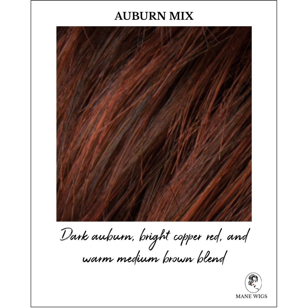 Auburn Mix-Dark auburn, bright copper red, and warm medium brown blend