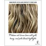 Load image into Gallery viewer, Brown Sugar Sweet Cream-Medium ash brown base with gold, honey, and pale blonde highlights