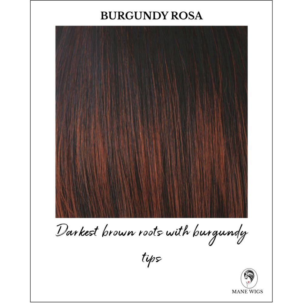 Burgundy Rosa - Darkest brown roots with burgundy tips