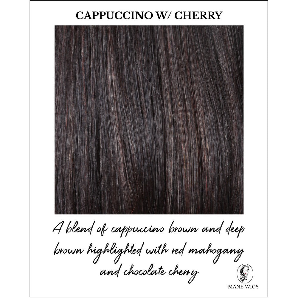 Cappuccino with Cherry-A blend of cappuccino brown and deep brown highlighted with red mahogany and chocolate cherry