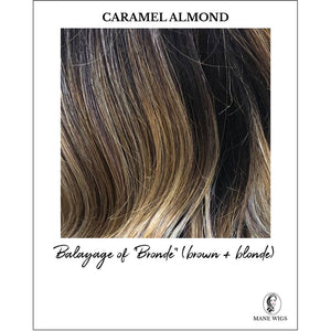 "Caramel Almond-Balayage of ""Bronde"" (brown + blonde)"