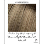 Load image into Gallery viewer, Champagne-R-Medium beige blonde, medium gold blonde, and lightest blonde blend with darker roots