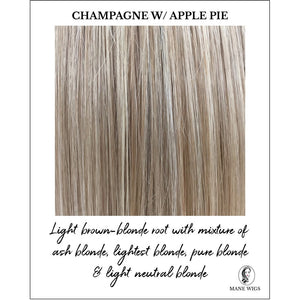 Champagne with Apple Pie-Light brown-blonde root with mixture of ash blonde, lightest blonde, pure blonde & light neutral blonde