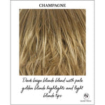 Load image into Gallery viewer, Champagne-Dark beige blonde blend with pale golden blonde highlights and light blonde tips