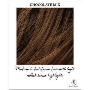 Chocolate Mix-Medium to dark brown base with light reddish brown highlights