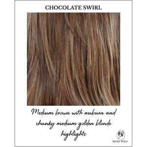 Chocolate Swirl-Medium brown with auburn and chunky medium golden blonde highlights