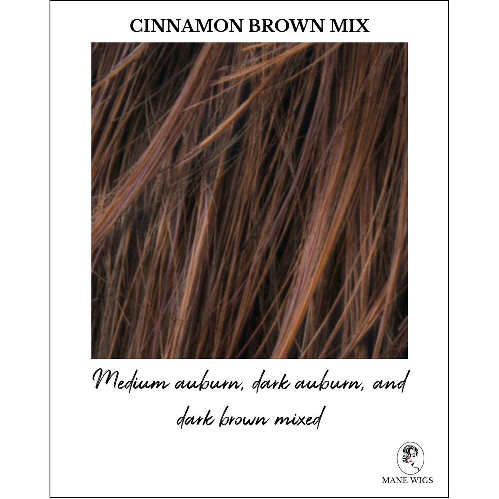 Cinnamon Brown Mix-Medium auburn, dark auburn, and dark brown mixed