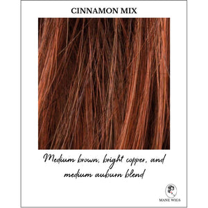 Cinnamon Mix-Medium brown, bright copper, and medium auburn blend
