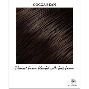 Cocoa Bean-Darkest brown blended with dark brown