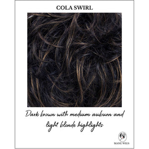 Cola Swirl-Dark brown with medium auburn and light blonde highlights