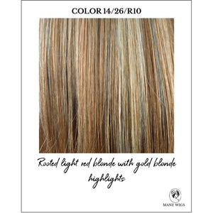 14/26/R10-Rooted light red blonde with gold blonde highlights