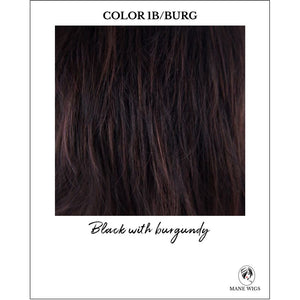 1B/BURG-Black with burgundy