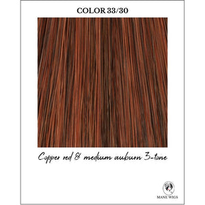 33/30-Copper red & medium auburn 3-tone