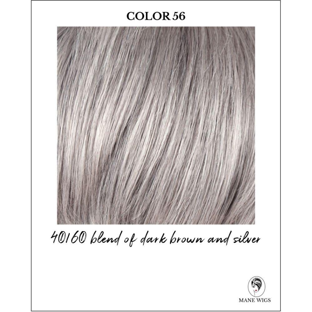 56-40/60 blend of dark brown and silver