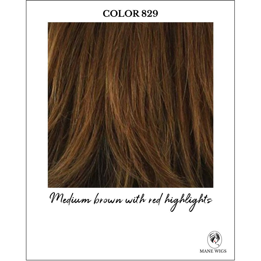 829-Medium brown with red highlights