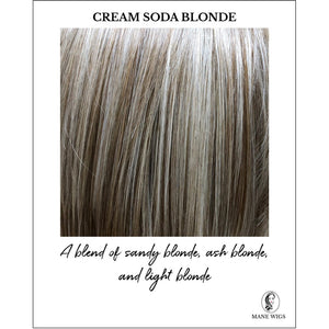 Cream Soda Blonde-A blend of sandy blonde, ash blonde, and light blonde