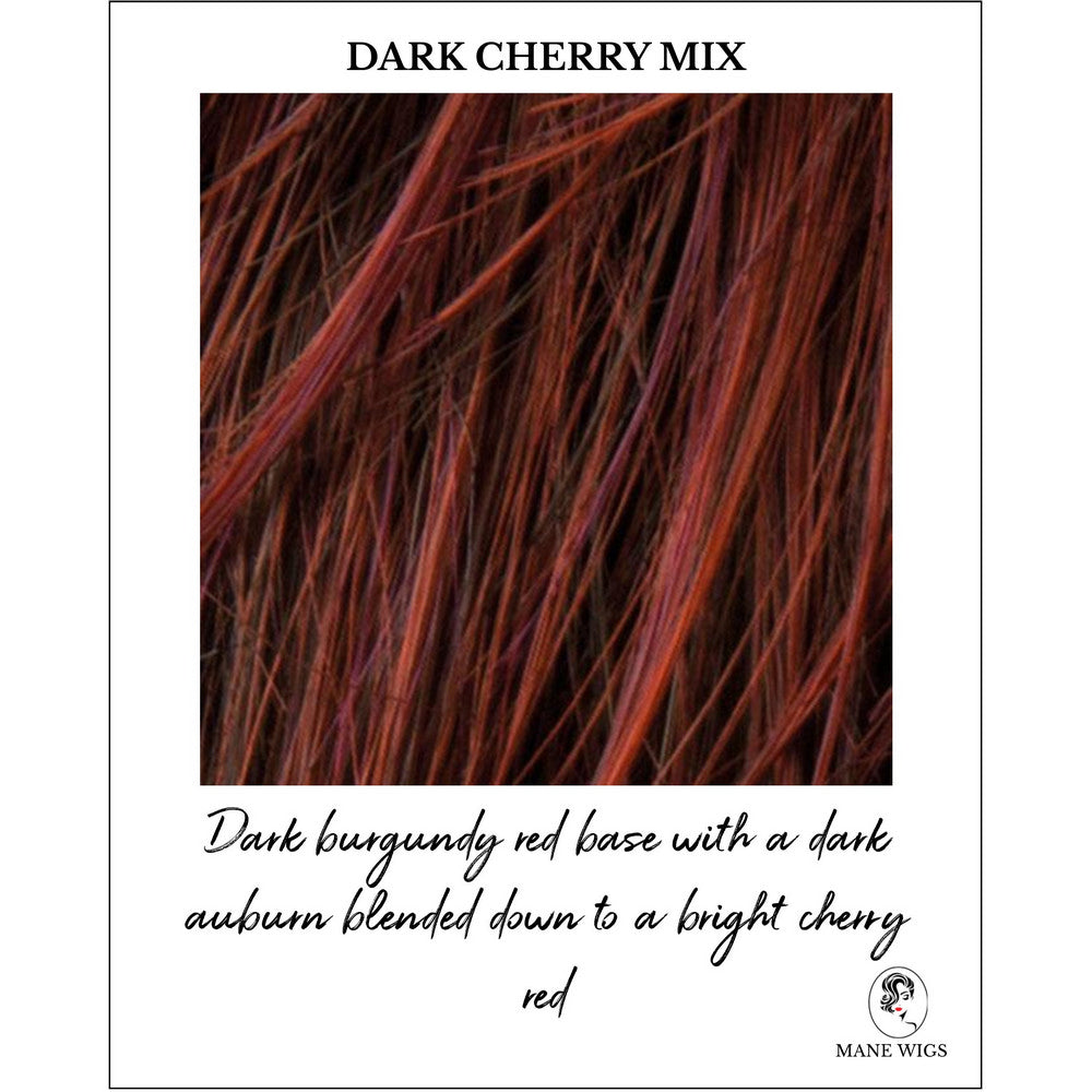 Dark Cherry Mix-Dark burgundy red base with a dark auburn blended down to a bright cherry red