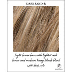 Load image into Gallery viewer, Dark Sand-R-Light brown base with lightest ash brown and medium honey blonde blend with dark roots