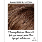 Load image into Gallery viewer, Dark Amber HL-Rooted-Medium golden brown blended with light copper and pale golden blonde highlights with dark roots
