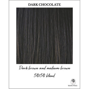 Dark Chocolate - Dark brown and medium brown 50/50 blend