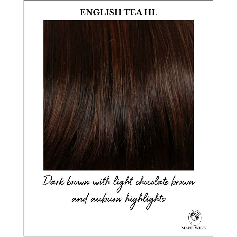 English Tea HL-Dark brown with light chocolate brown and auburn highlights