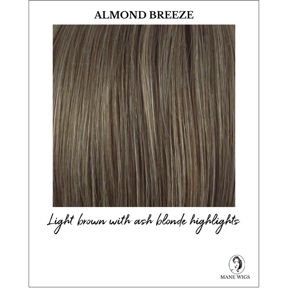 Almond Breeze Highlighted - Light brown with ash blonde highlights