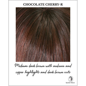 Chocolate Cherry Rooted - Medium dark brown with auburn and copper highlights and dark brown roots