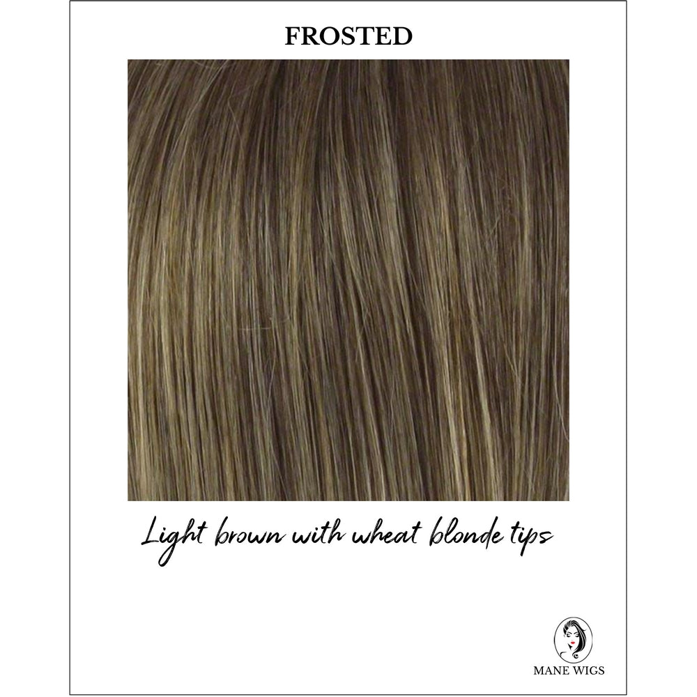 Frosted - Light brown with wheat blonde tips