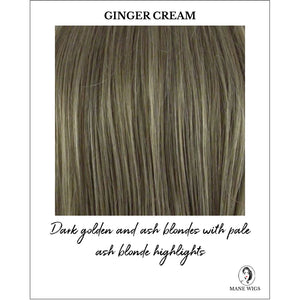 Ginger Cream Highlighted - Dark golden and ash blondes with pale ash blonde highlights