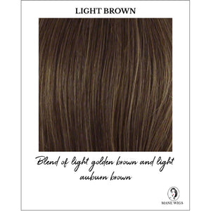 Light Brown - Blend of light golden brown and light auburn brown