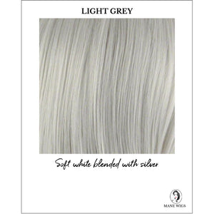 Light Grey - Soft white blended with silver