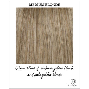 Medium Blonde - Warm blend of medium golden blonde and pale golden blonde