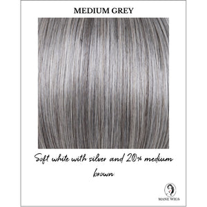 Medium Grey - Soft white with silver and 20% medium brown