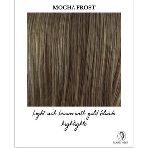 Mocha Frost Highlighted - Light ash brown with gold blonde highlights