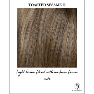 Toasted Sesame Rooted - Light brown blend with medium brown root
