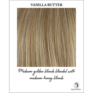 Vanilla Butter Highlighted - Medium golden blonde blended with medium honey blonde