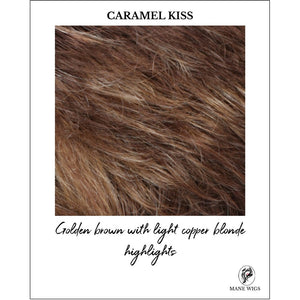 CARAMEL KISS-Golden brown with light copper blonde highlights