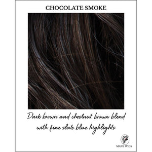 CHOCOLATE SMOKE-Dark brown and chestnut brown blend with fine slate blue highlights