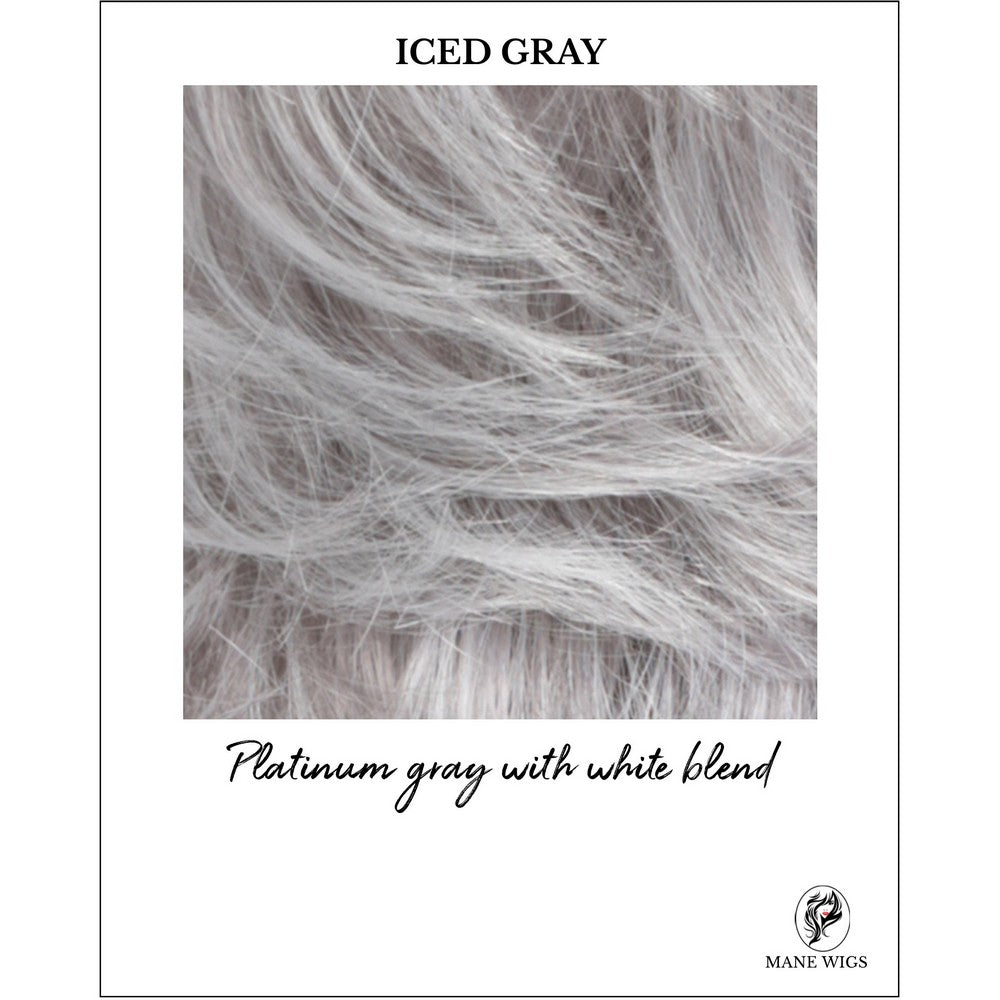 ICED GRAY-Platinum gray with white blend