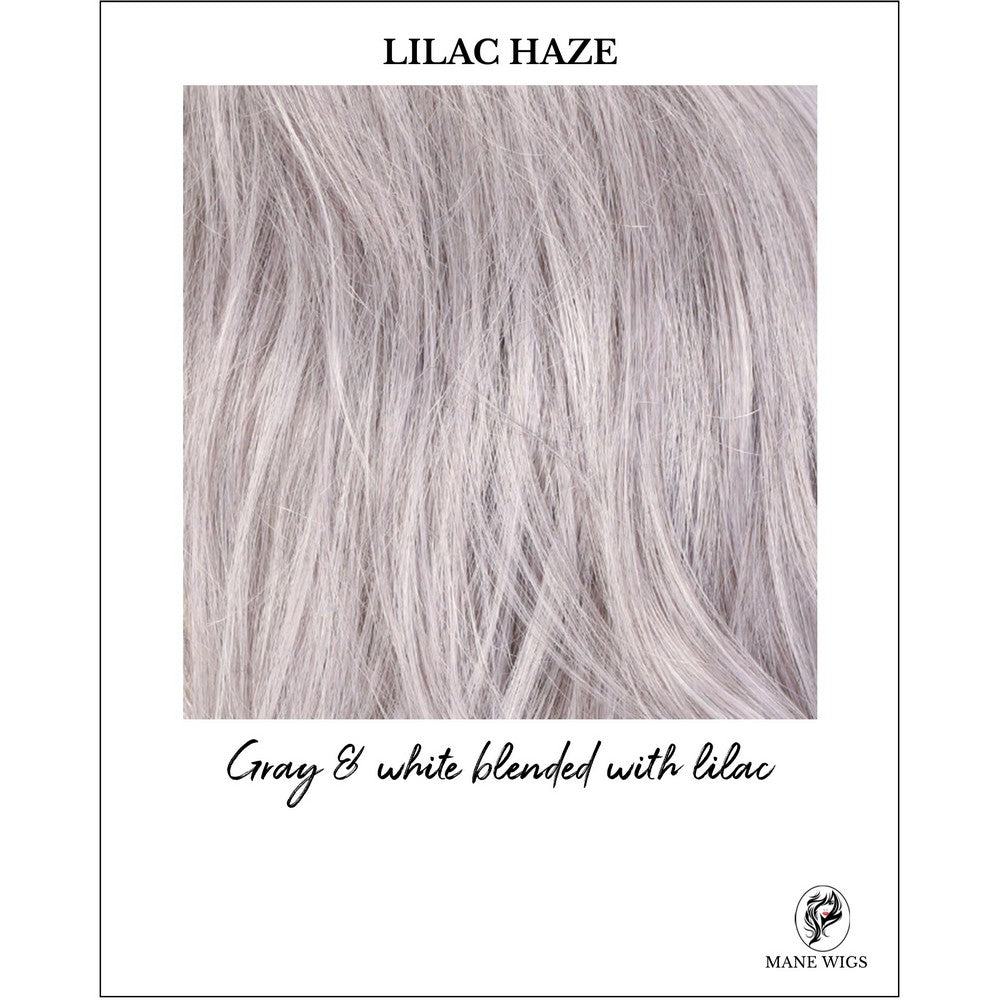 LILAC HAZE-Gray & white blended with lilac