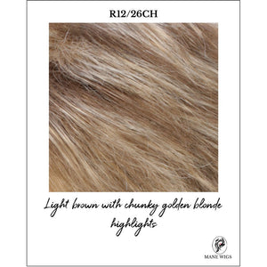 R12/26CH-Light brown with chunky golden blonde highlights